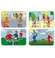 Children playing games vector image