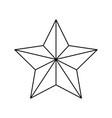 christmas star vector image