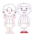 couple of children characters vector image