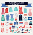fashion summer collection of woman clothes vector image