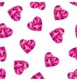 Heart shape symbols isolated on white background vector image