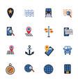 navigation transport map icons vector image