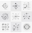 Scientific bauhaus technology circular grids vector image