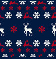 seamless pattern of winter background vector image