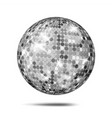 silver disco ball dance night club party vector image