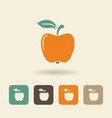 simple flat icon apple vector image