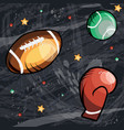 sport concept art in cartoon style hand drawn vector image