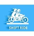 Swift ride vector image