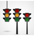 Traffic lights icon vector image