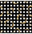 Golden grunge hearts stripes seamless pattern vector image