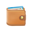 Realistic closed wallet vector image