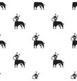 Donkey icon in black style isolated on white vector image