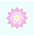 pink lotus isolated vector image vector image