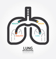 infographics lung design organ concept vector image