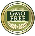 GMO Free Green Label vector image vector image