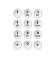phone dialer vector image