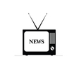 old tv with news on it vector image