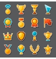 Sport or business award sticker icons set vector image vector image