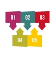 Business concept with 5 options parts steps vector image