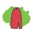 Cartoon doodle skirt vector image