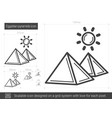 egyptian pyramid line icon vector image