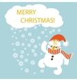Merry Christmas flat design vector image