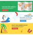 Three banners concept summertime vacation vector image
