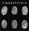 White Fingerprints vector image