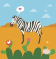 zebra character vector image