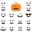 Set of faces for Halloween pumpkin vector image vector image