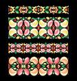 traditional handicraft abstract seamless borders vector image