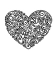 Floral heart with ornamental elements vector image