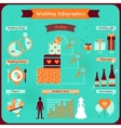 Wedding infographics in retro style vector image vector image