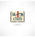 Club open book vector image vector image