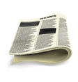 Old folded newspaper vector image