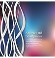 Abstract lines on blur background vector image