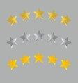 5 stars vector image