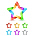 Folded Color Paper Stars vector image vector image