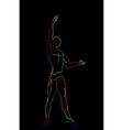 neon ballerina vector image