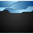 Blue and black tech corporate background vector image vector image