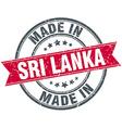 made in Sri Lanka red round vintage stamp vector image