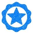 Award Star Seal Grainy Texture Icon vector image