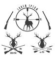 Deer hunting emblem set vector image