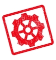 Gear Icon Rubber Stamp vector image