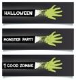 Halloween fun ribbons vector image
