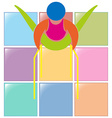 Icon for gymnastics on parallel bars vector image