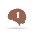 keyhole on the brain vector image