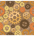 seamless cogs background vector image