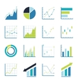 Set statistics icon vector image
