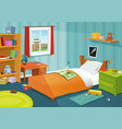 some kid bedroom vector image